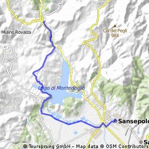 Via di Francesco - Pieve Santo Stefano to Sansepolcro