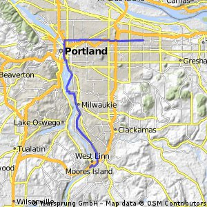 Work to home via DT Portland