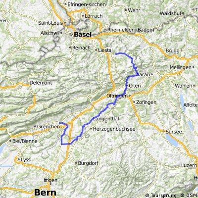 Gelterkinden Solothurn über Route 34