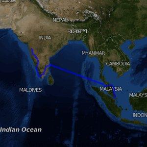 malay-india south / madras - bombay 1980