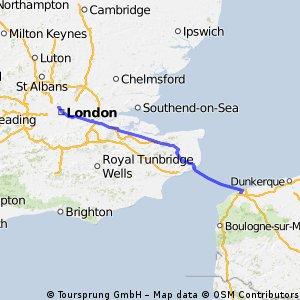 London to Calais