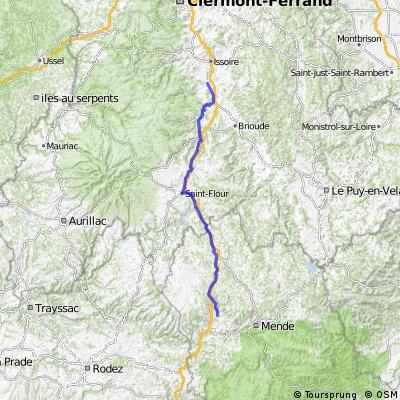 Saint-Germain-Lembron to Marvejols