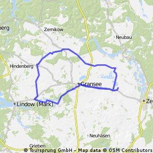 Gransee Runde 54,5 km 360 hm