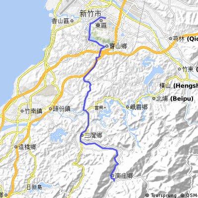 苗_0529_南庄-新竹最快路徑