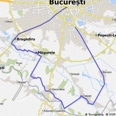 Bucuresti - Berceni - Vidra - 1 Decembrie - Magurele - Bragadiru - Bucuresti