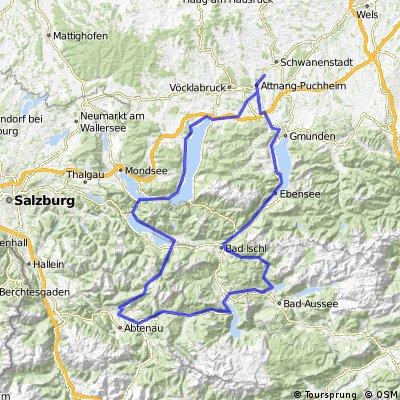 2-Tagestour (6 Seen, 205 km, 8000 hm)