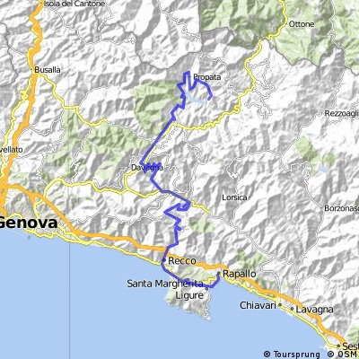 Cycling Routes And Bike Maps In And Around Rapallo Bikemap Your