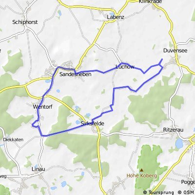 Wentorf - Sirksfelde - Lüchow - Sandesneben
