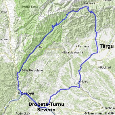 Tr Severin-Cheile Sohodol-Campul Lui Neag-Valea Cernei- Tr Severin