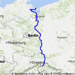 Oder-Neiße-Radweg (Route D 12) 585 Km