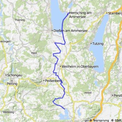 Herrsching - Staffelsee - Rennrad