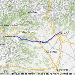 Etappe 09: León - Ponferrada