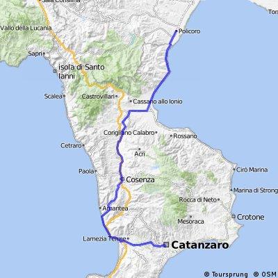 Giro d'Italia Variant 7.etape: Catanzaro-Policoro