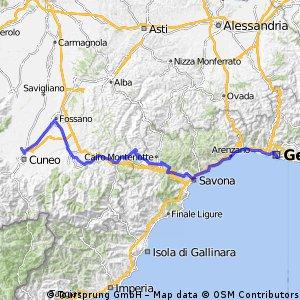 Giro d'Italia Variant 12.etape: Genova-Cuneo