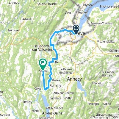 Genève - Mt Clergeon - Seyssel