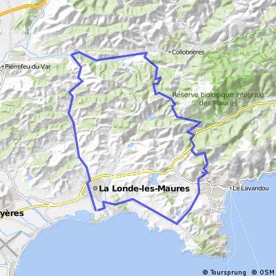 La Londe - Bormes des Mimosas - Col Babou - Collobriers - La Londe