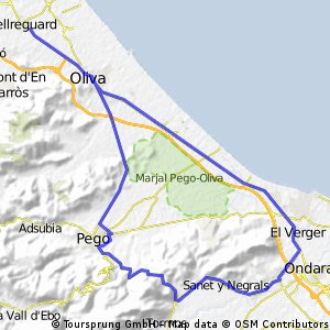 Bellreguard - Sagra - El Verger - Bellreguard