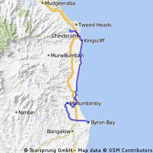 Tweed heads to Byron tour