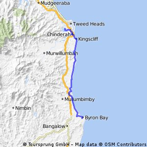 Tweed heads to byron Tour off road