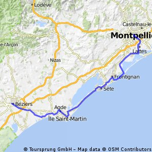 2015 9.etapa :  Balaruc Le Vieux - Séte - Agde - Bézieries
