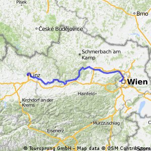 Cycling routes and bike maps in and around Linz Bikemap Your