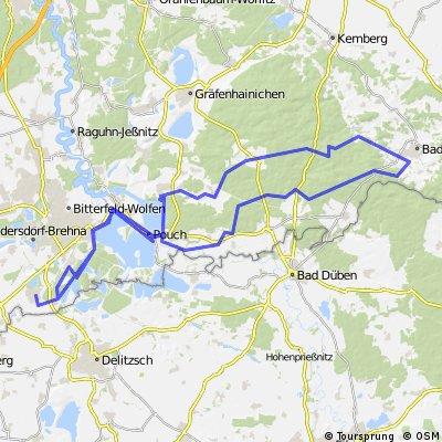 Sturzfahrt nach Bad Schmiedeberg