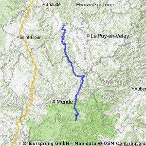 E7-2 VissacAuteyrac - LePontDeMontvert 144km 2620HM