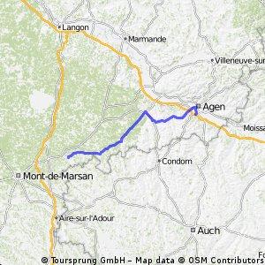 2015 Ride Day 35 - Labastide d'Armagnac to Le Passage-d'Agen