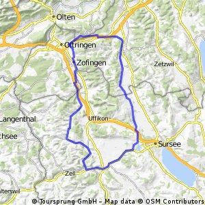 Reitnau-Holziken-Zofingen-Gettnau-Knutwil-Reitnau