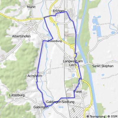 Gablingen - Erlingen - Gablingen