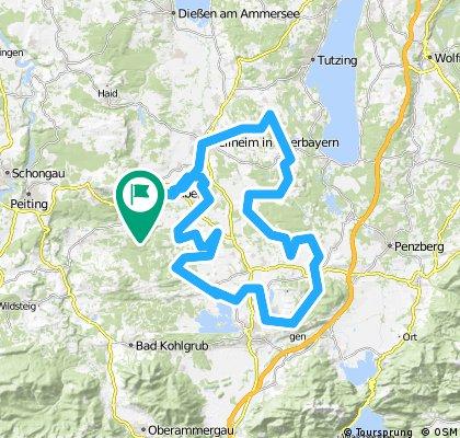 Rennradrunde Peissenberg, Staffelsee, Weilheim