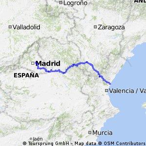 Coslada - Valencia (509 kms)