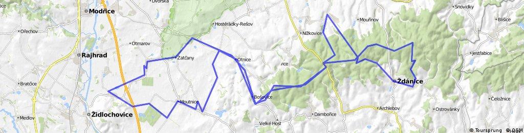 Menin-Bosovicka Slapka (trasa 53km), tyden pote a trochu jinak