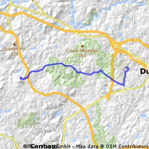 Route to blackwood from duke