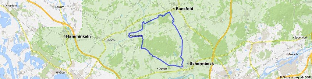 Schermbeck - Marienthal -Raesfeld -Schermbeck