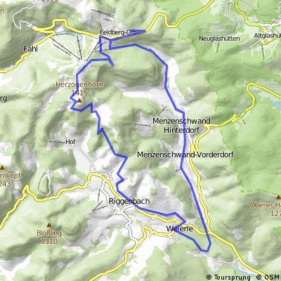 Tour ab Feldberg Passhöhe