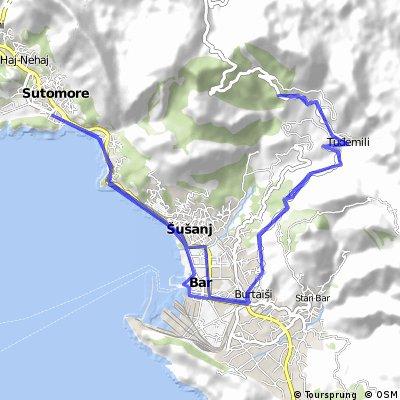 Montenegro: Sutomore - Bar - motorest u Marka