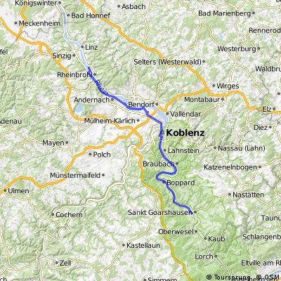10. Tag: Rheintour Sankt Goar - Bad Hönningen