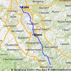 11. Tag: Rheintour Bad Hönningen - Köln