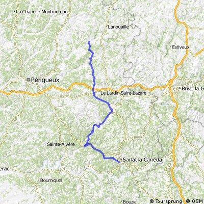 2015 Ride Day 38 - Sarlat-la-Canéda to Excideuil