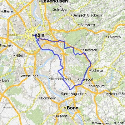 Krewelshof Wahner-Heide  Radtour