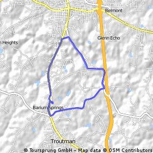 Tri bike route