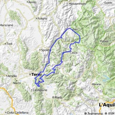 GWN Greenway del Nera - Totale