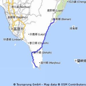 Day 5 台東火車站->墾丁國家公園 136km