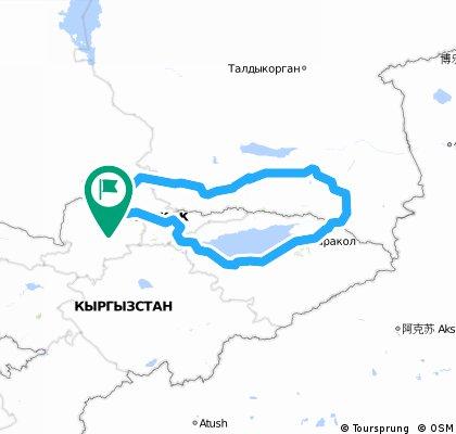 Kyrgistan en kazakhstan 1063km