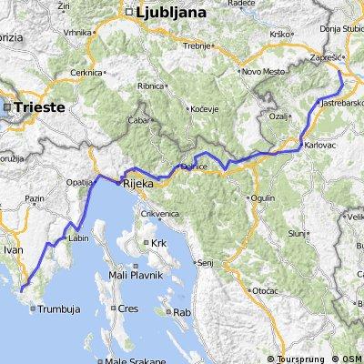 BRM 600 km Sveta Nedelja - Pula 2015 - Leg 4