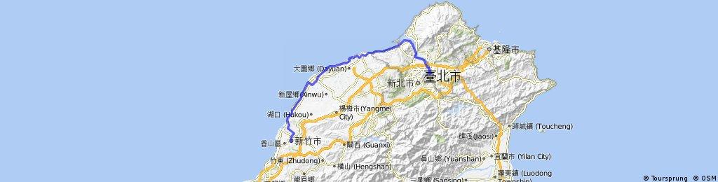 Day 10 新竹 -> 台北 海線 平路 102.6km