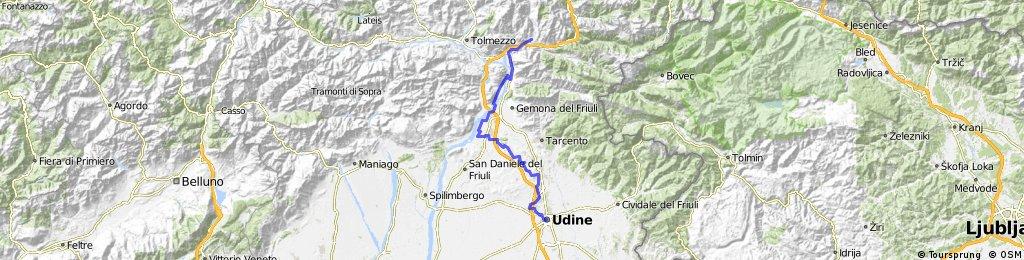Alpe Adria seconda tappa: da Moggio Udinese a Udine, passando per Venzone