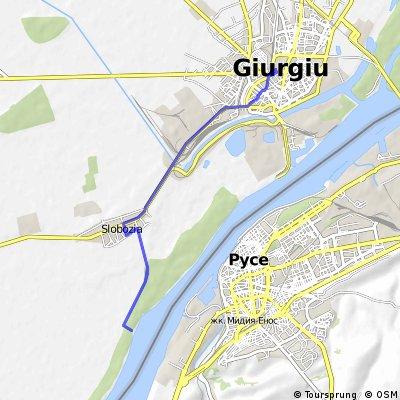 Plimbare pe bicicleta Giurgiu - Slobozia