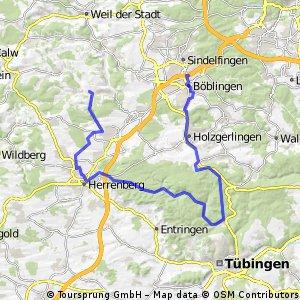 Schönbuch-Tour BB-Bebenhausen-Herrenberg-Aidlingen
